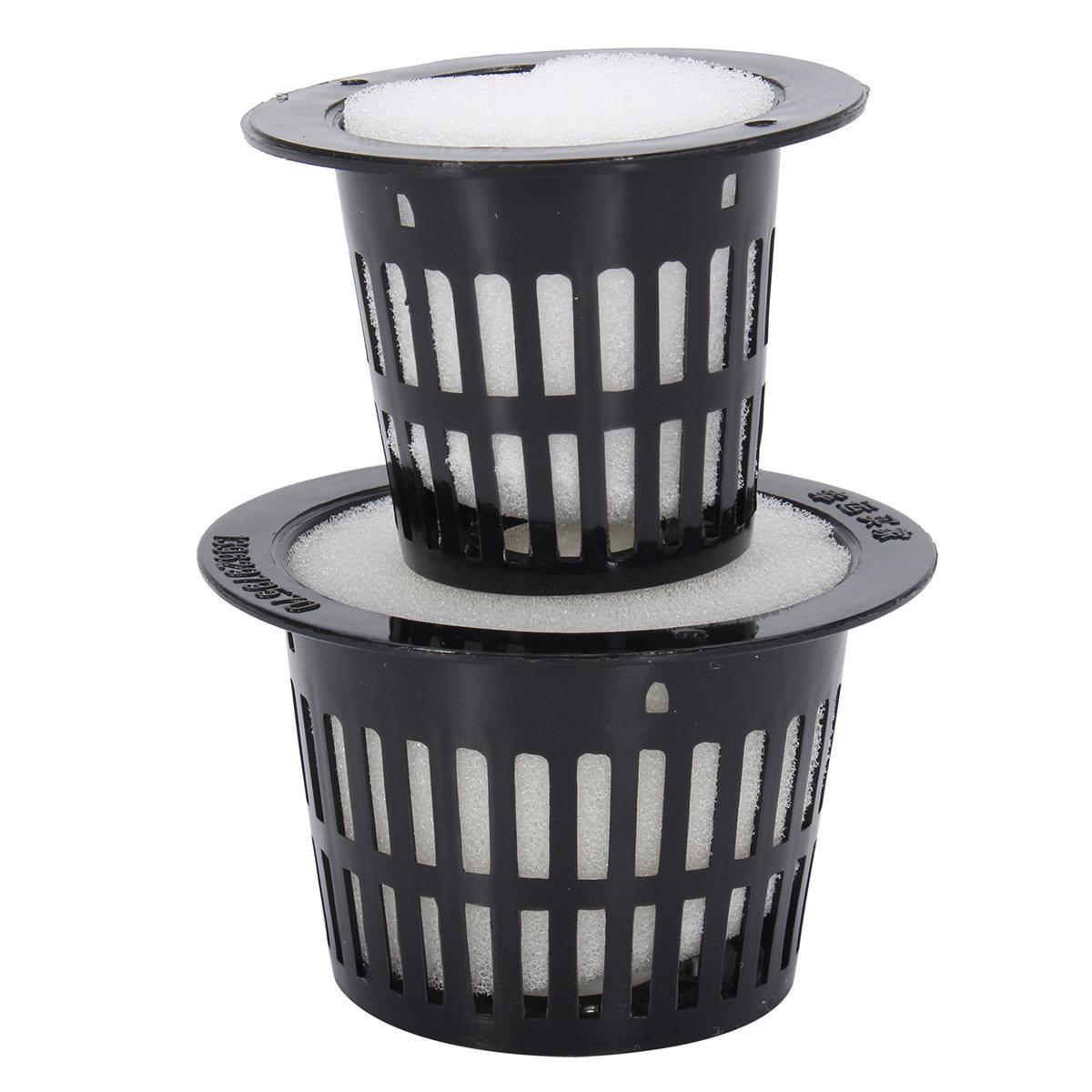 10 Mesh Pot Net Basket Clone Collar Foam Insert Hydroponic Aeroponic Garden Tools