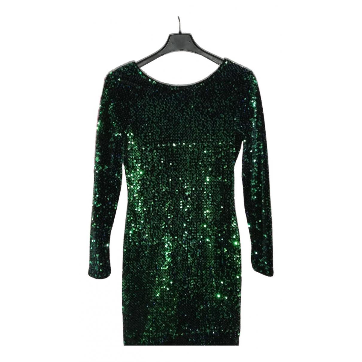 - Robe   pour femme en a paillettes - vert