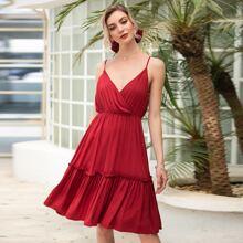 Cami Kleid mit Ruesche und Raffungsaum