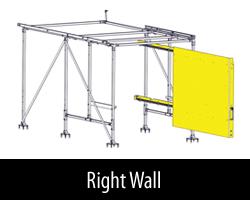 Cargo Glide RH WallSlide with Framework Dodge Ram Pro Master City 122 WB High Roof 2014-2019