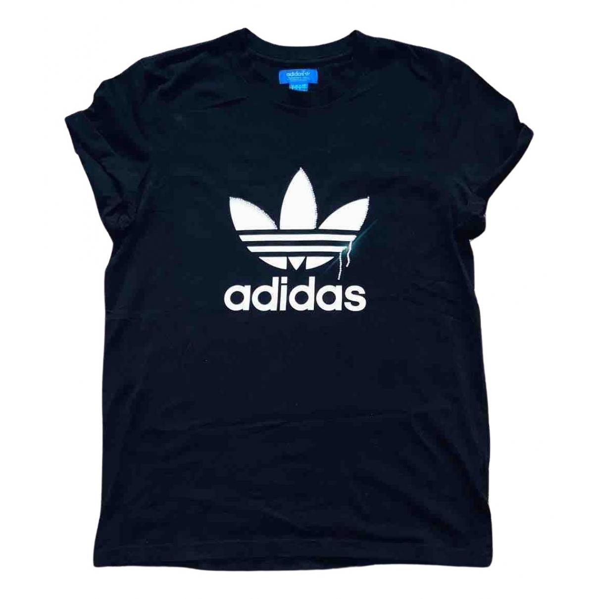 Adidas - Top   pour femme en coton - noir