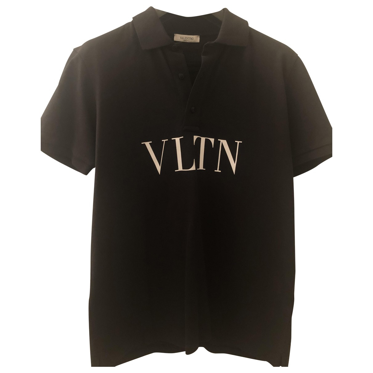 Valentino Garavani \N Black Cotton Polo shirts for Men M International