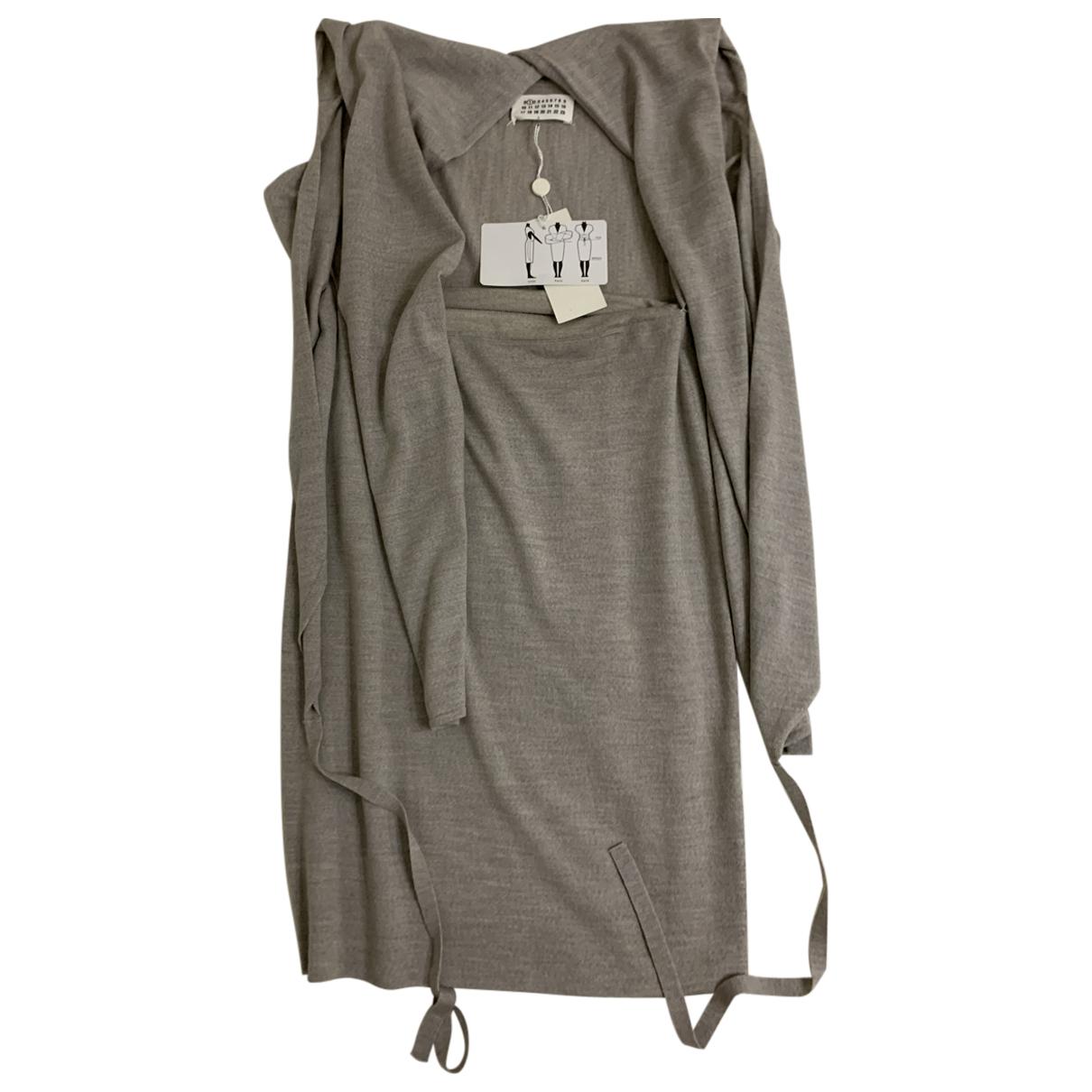 Maison Martin Margiela - Robe   pour femme en laine - gris