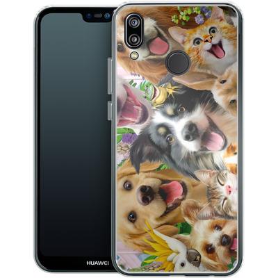 Huawei P20 Lite Silikon Handyhuelle - Selfie Backyard Pals von Howard Robinson