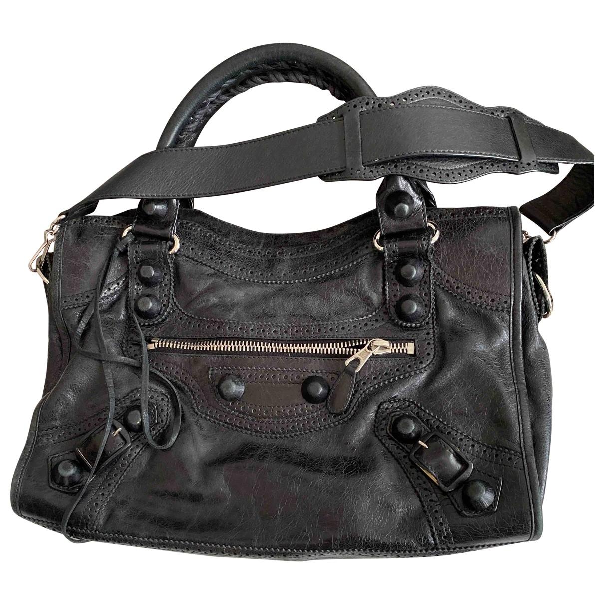 Balenciaga City Black Leather handbag for Women \N