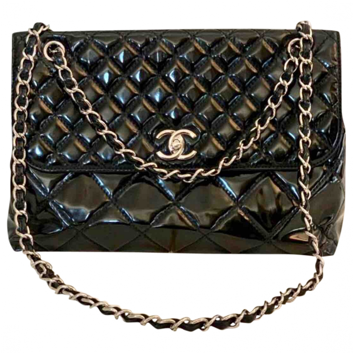 Chanel \N Handtasche in  Schwarz Lackleder