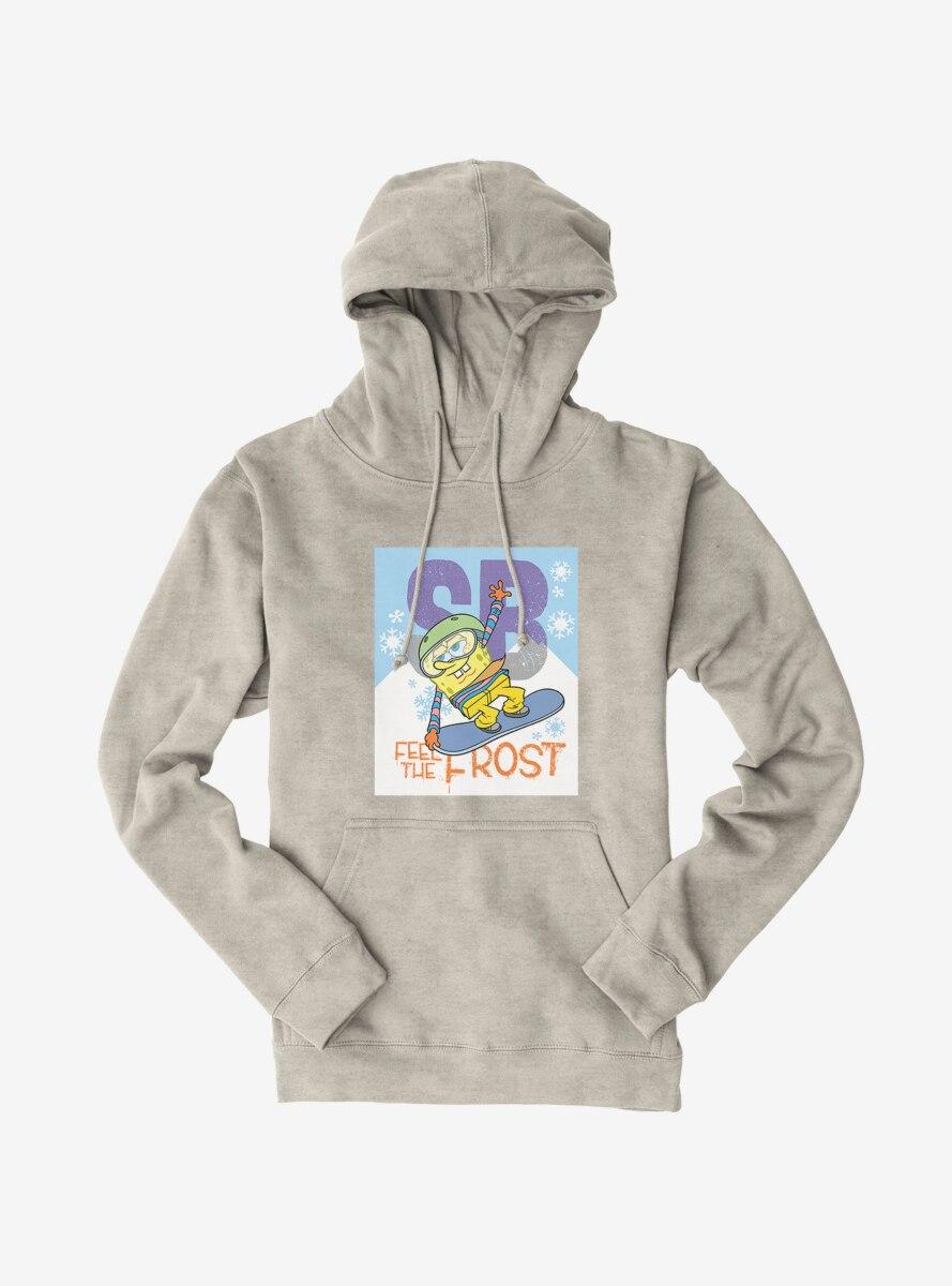 SpongeBob SquarePants Feel The Frost Snowboarding Hoodie