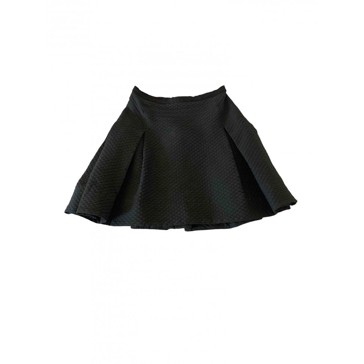 Lanvin - Jupe   pour femme en coton - elasthane - noir