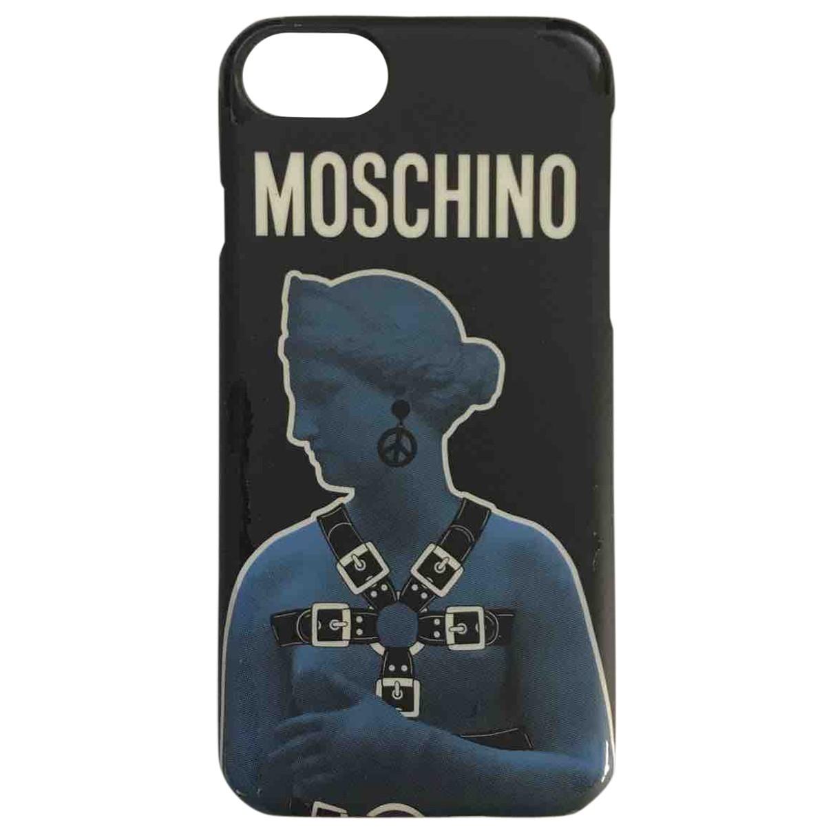 Moschino \N Handyschmuck in  Schwarz Leinen