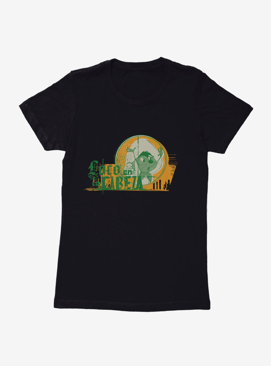 Looney Tunes Speedy Gonzales Loco En La Cabeza Womens T-Shirt
