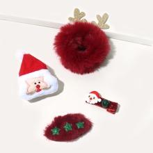 4 Stuecke Kleinkind Maedchen Weihnachten Haar Accessories