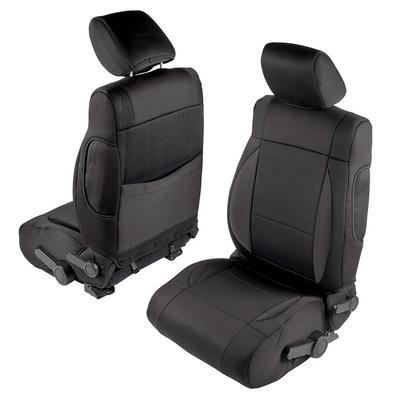 Smittybilt Neoprene Front and Rear Seat Cover Kit (Black/Black) - 471501