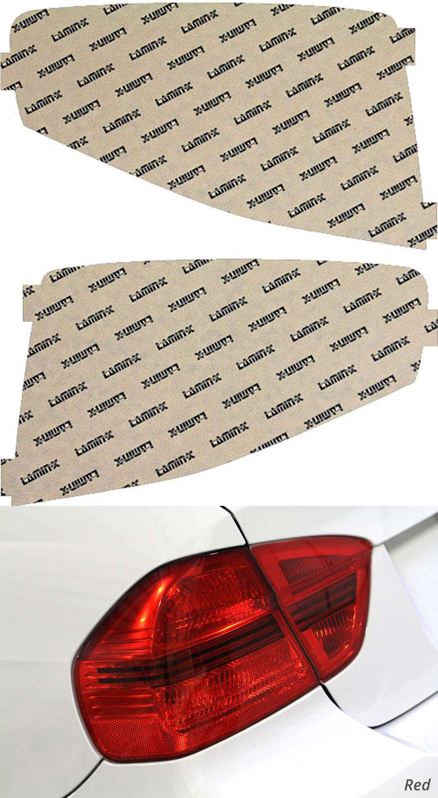 Ford Focus 08-11 Red Tail Light Covers Lamin-X F226R