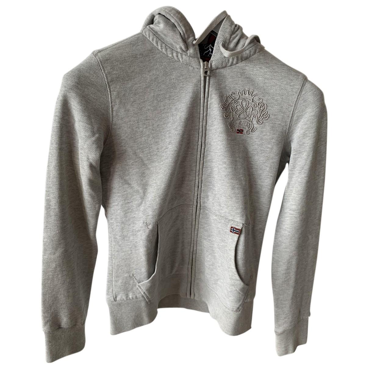 Napapijri - Blouson   pour femme en coton - gris