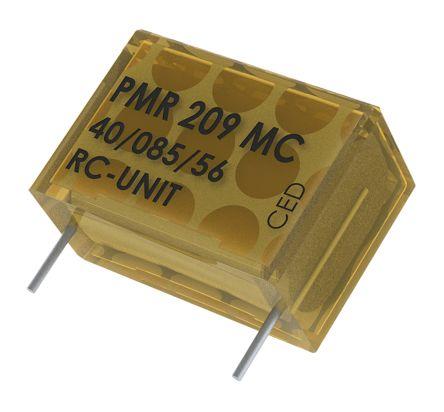 KEMET RC Capacitor 100nF 22Ω Tolerance ±20% 250 V ac, 630 V dc 1-way Through Hole PMR209 Series (5)