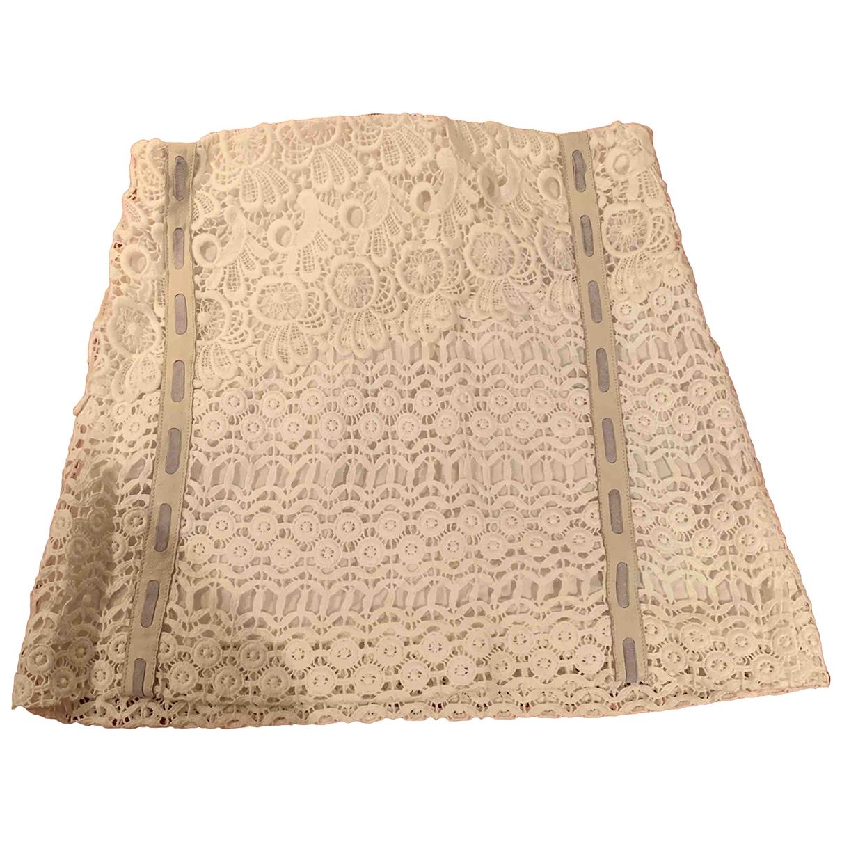Maje - Jupe   pour femme en coton - blanc