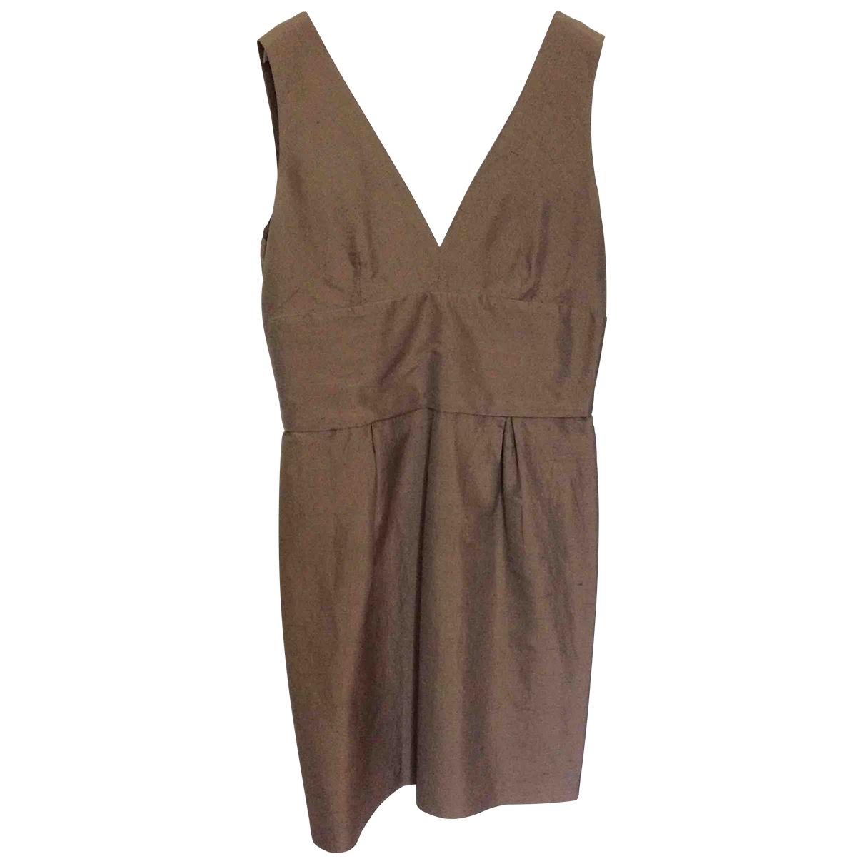 - Robe   pour femme en soie - marron