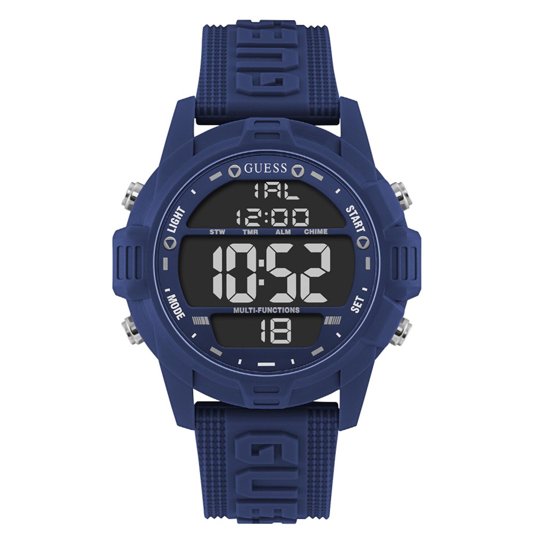 Guess Men's Charge U1299G4 Blue Silicone Quartz Fashion Watch