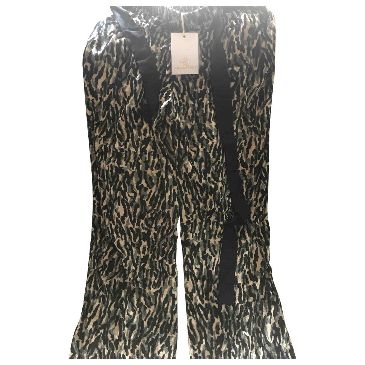 Stella Forest \N Hose in  Khaki Denim - Jeans