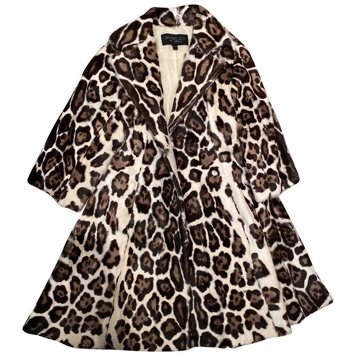 Giambattista Valli \N Multicolour Leather coat for Women 40 IT