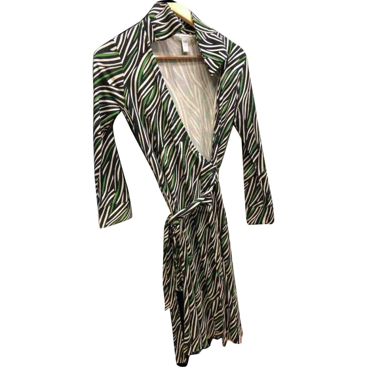 Diane Von Furstenberg \N Grey Silk dress for Women 10 US