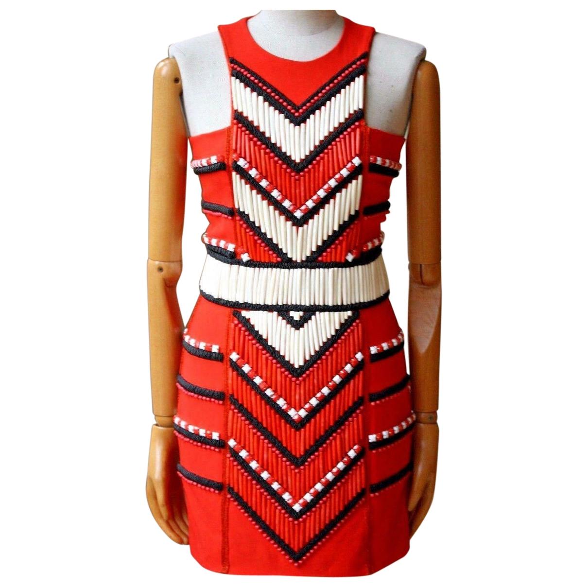 Balmain - Robe   pour femme - rouge