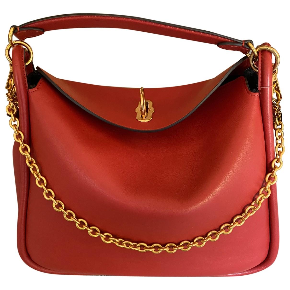Mulberry Leighton Handtasche in  Rot Leder