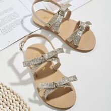 Toddler Girls Bow Knot Glitter Sandals