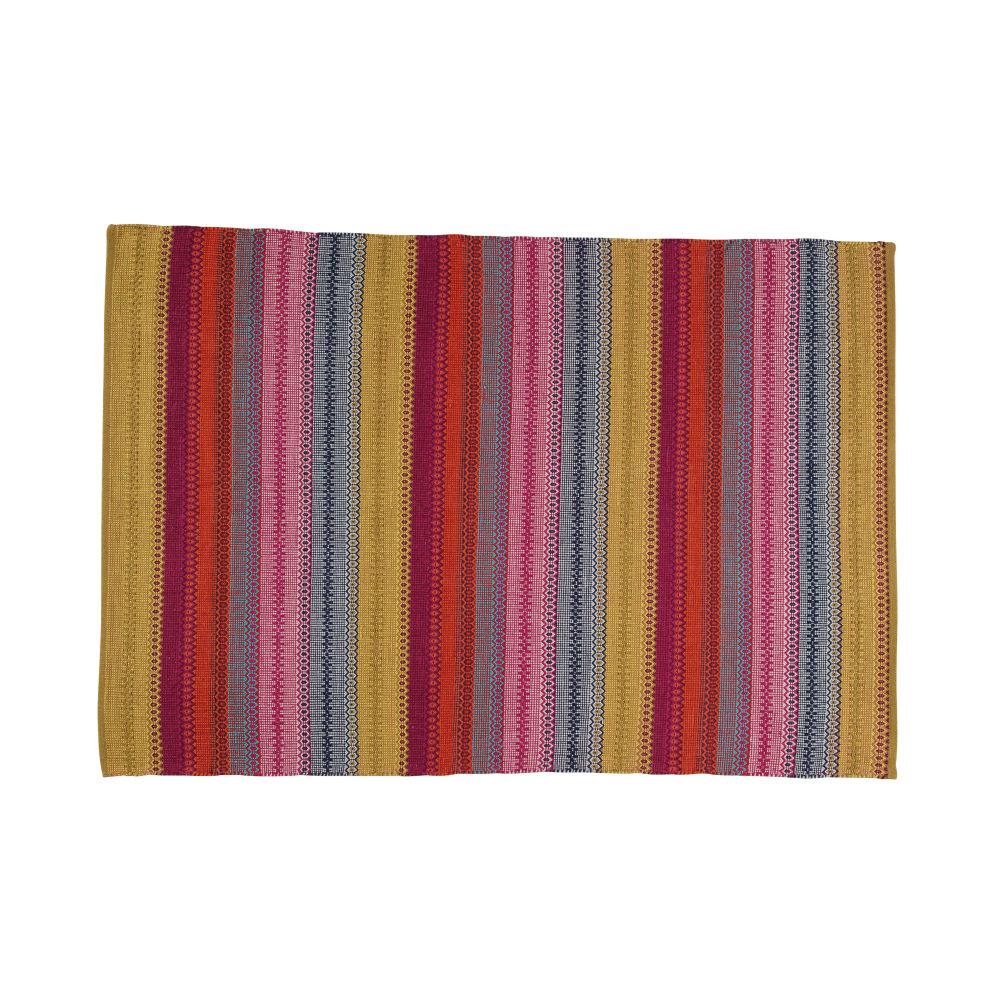 Flechtteppich KIGALI aus Baumwolle, 230 x 160cm, bunt