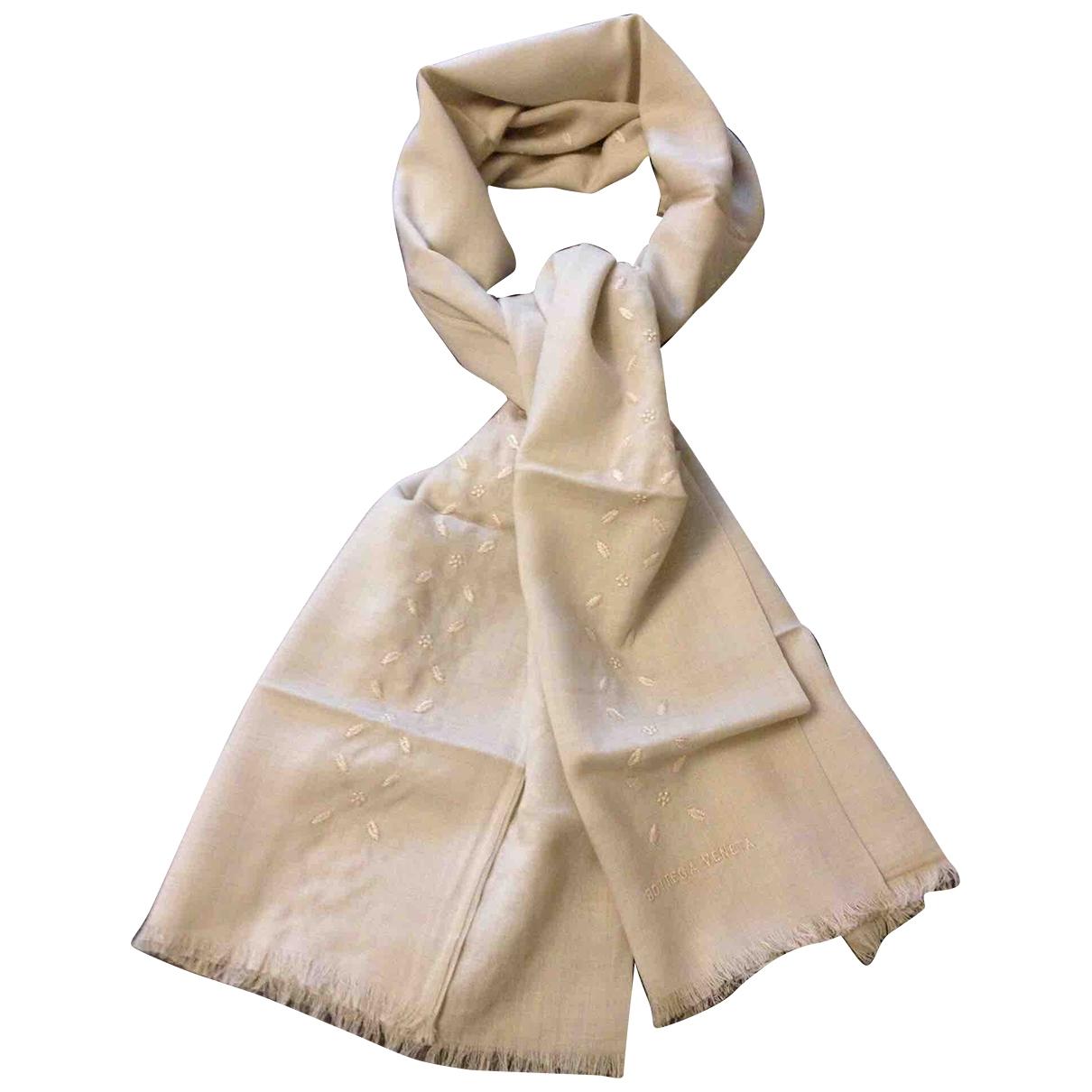 Bottega Veneta \N Schal in  Beige Wolle