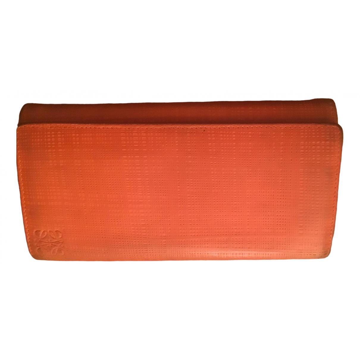 Loewe \N Portemonnaie in  Orange Leder