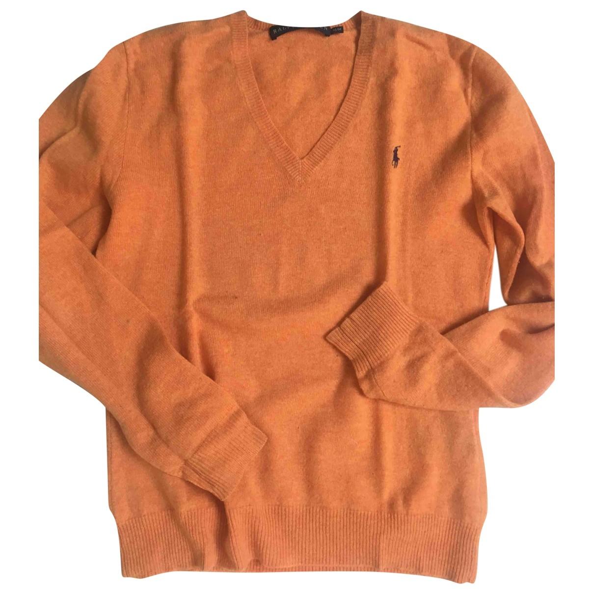 Ralph Lauren - Pull   pour femme en laine - orange