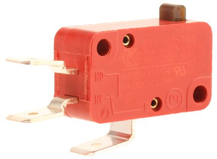 Marquardt SPDT Plunger Microswitch, 16 A @ 250 V ac