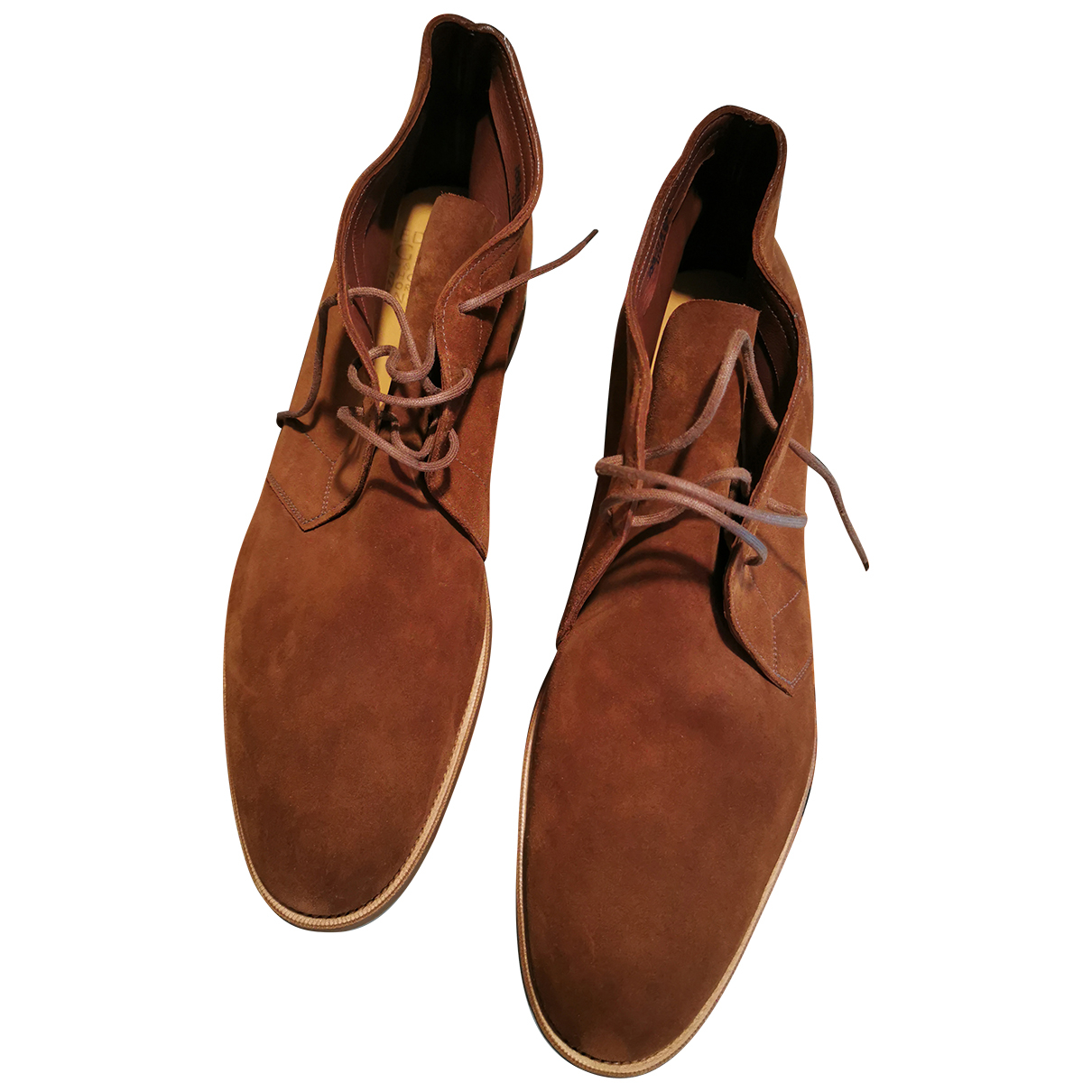 Edward Green N Brown Suede Boots for Men 10.5 UK