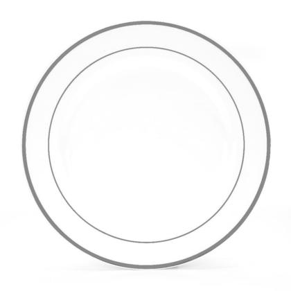 (10 Pack) Premium Plastic Party Dinner Plate 10.25