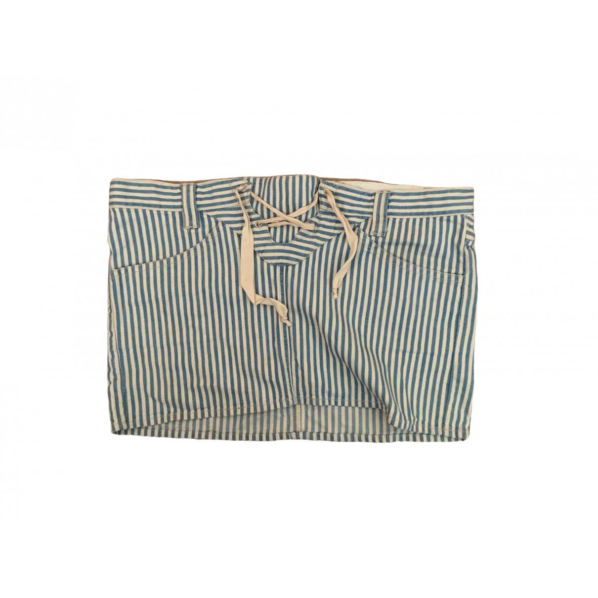 Isabel Marant Etoile \N Blue Denim - Jeans skirt for Women 34 FR