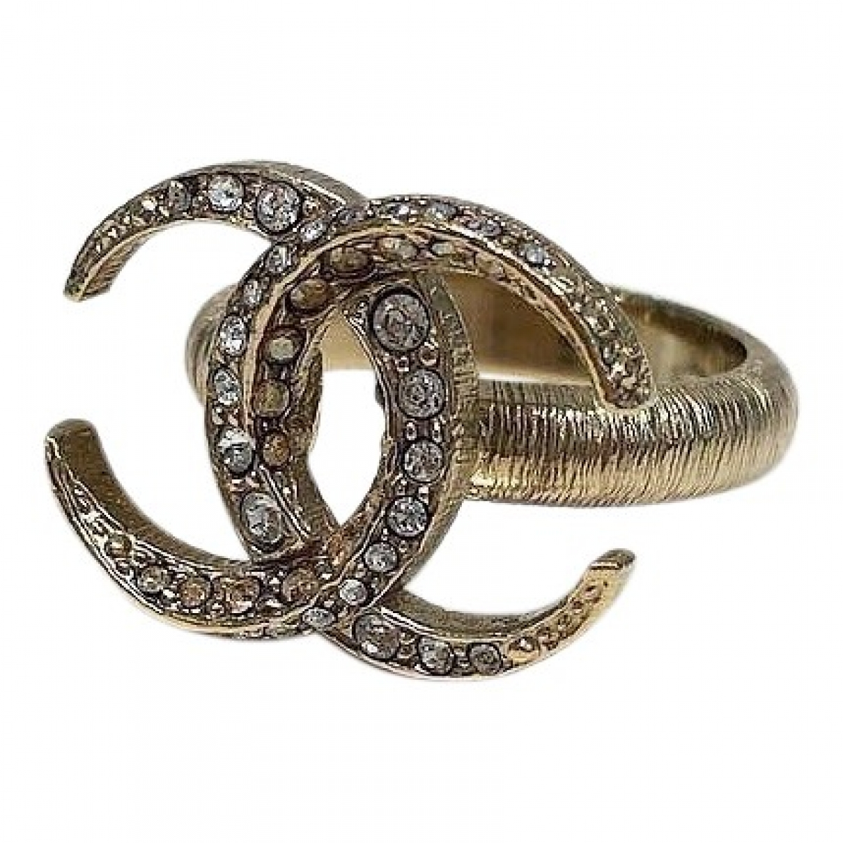 Chanel CC Ring in  Gold Metall