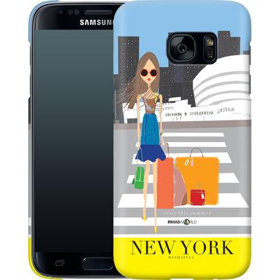 Samsung Galaxy S7 Smartphone Huelle - NEW YORK TRAVEL POSTER von IRMA