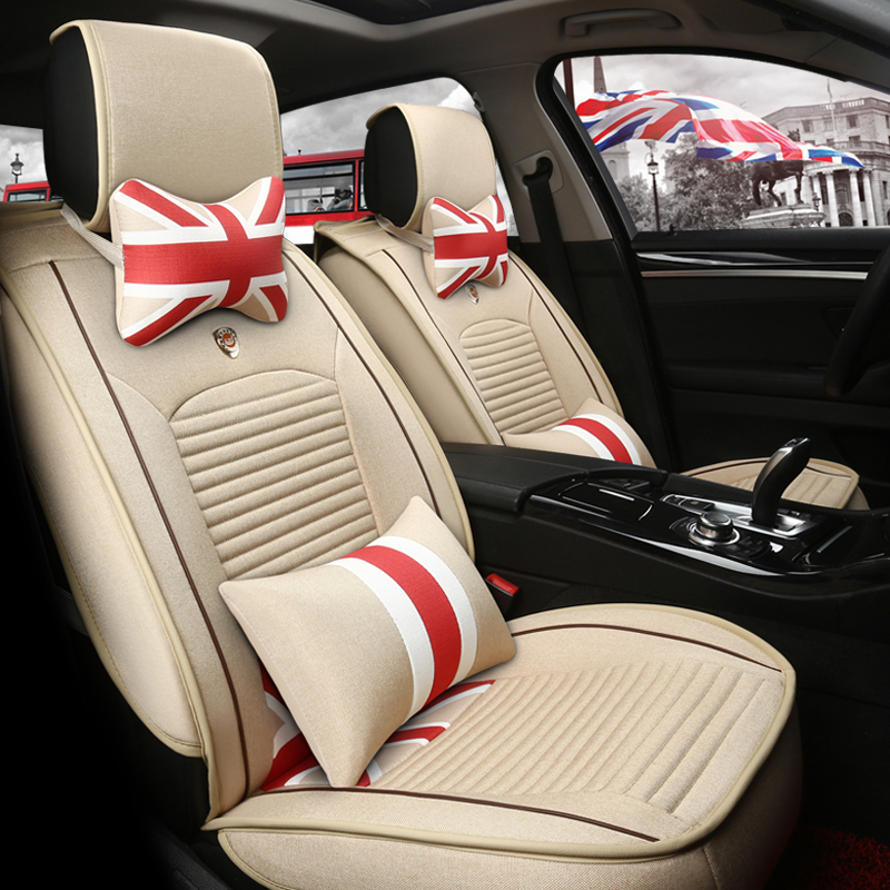 Union Jack Pattern Style With Good Permeability Durable Universal Car Seat Cover