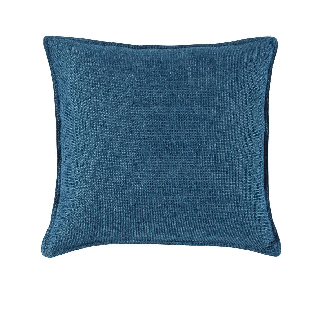 Kissen aus pfauenblauem Samt 60x60