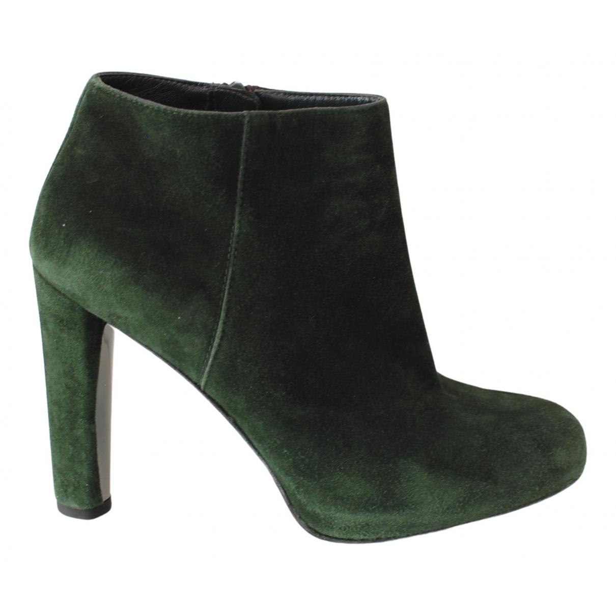 Stuart Weitzman N Green Suede Ankle boots for Women 39 EU