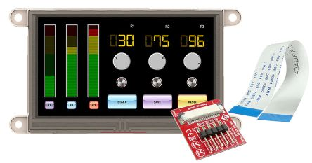 4D Systems gen4-uLCD-43DT TFT LCD Colour Display / Touch Screen, 4.3in, 480 x 272pixels