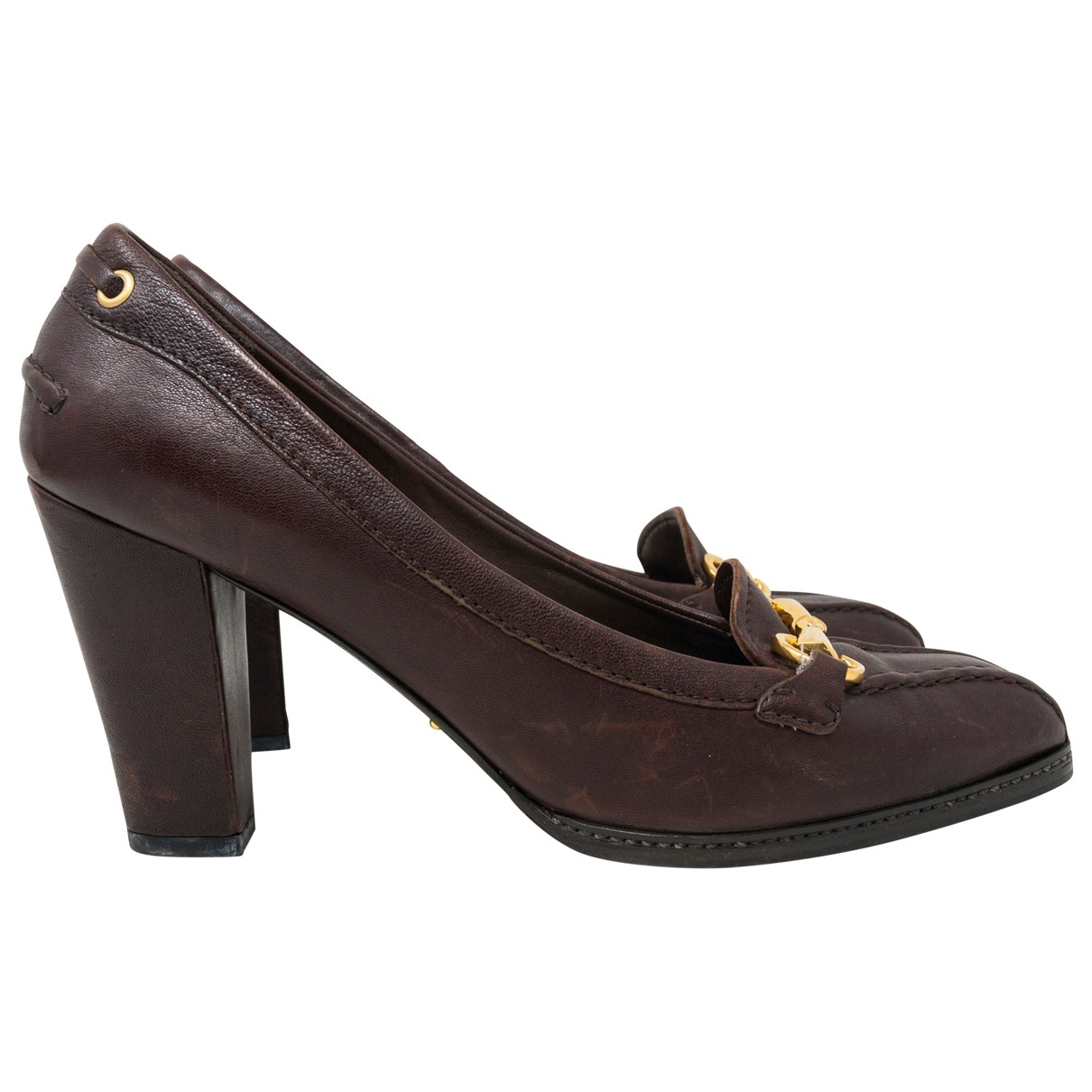 Carshoe \N Brown Leather Heels for Women 40 IT