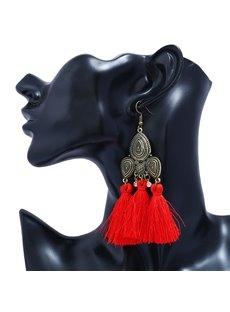 Fan Shape Tassels Earrings for Women's Girls Bohemia