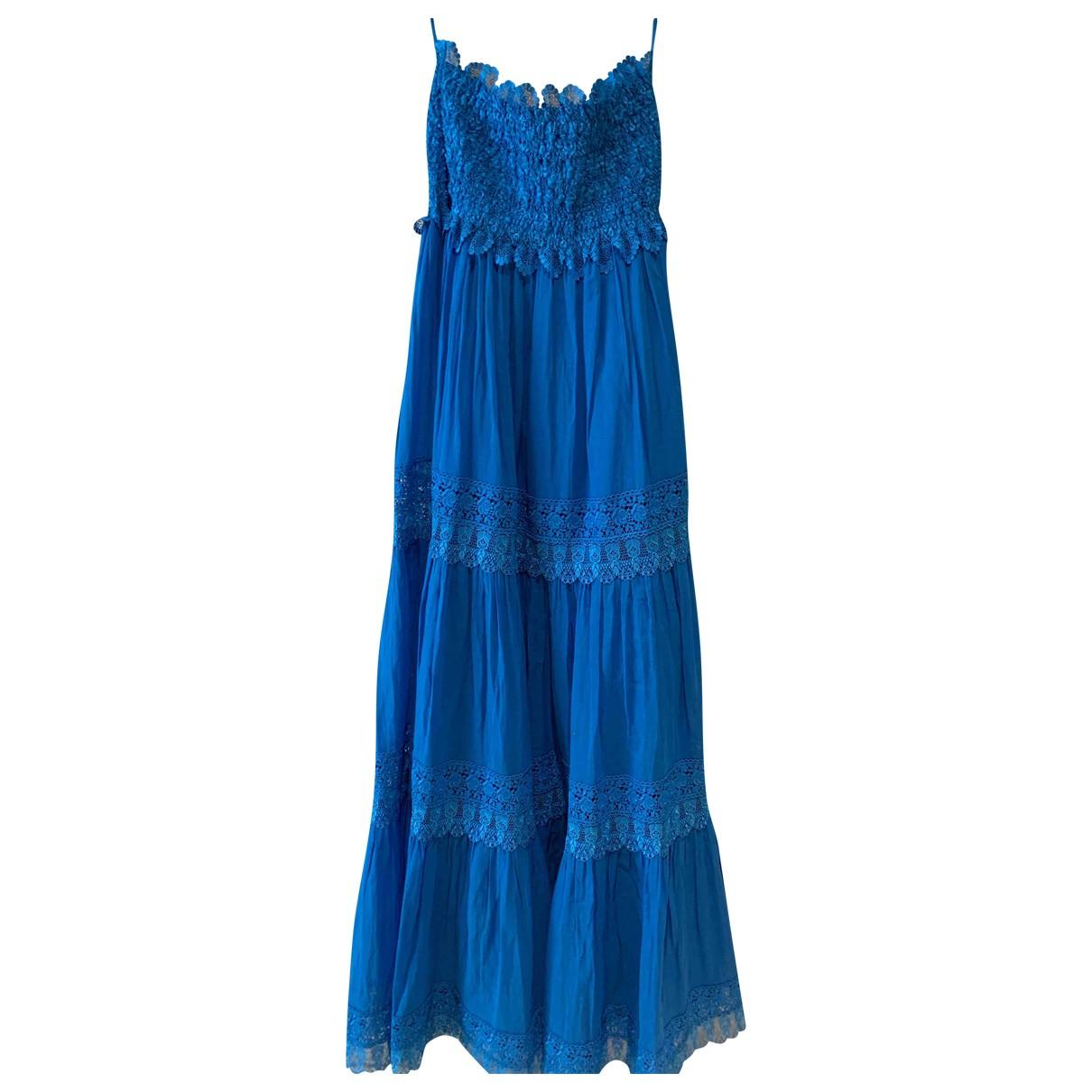 Charo Ruiz \N Blue Cotton - elasthane dress for Women M International