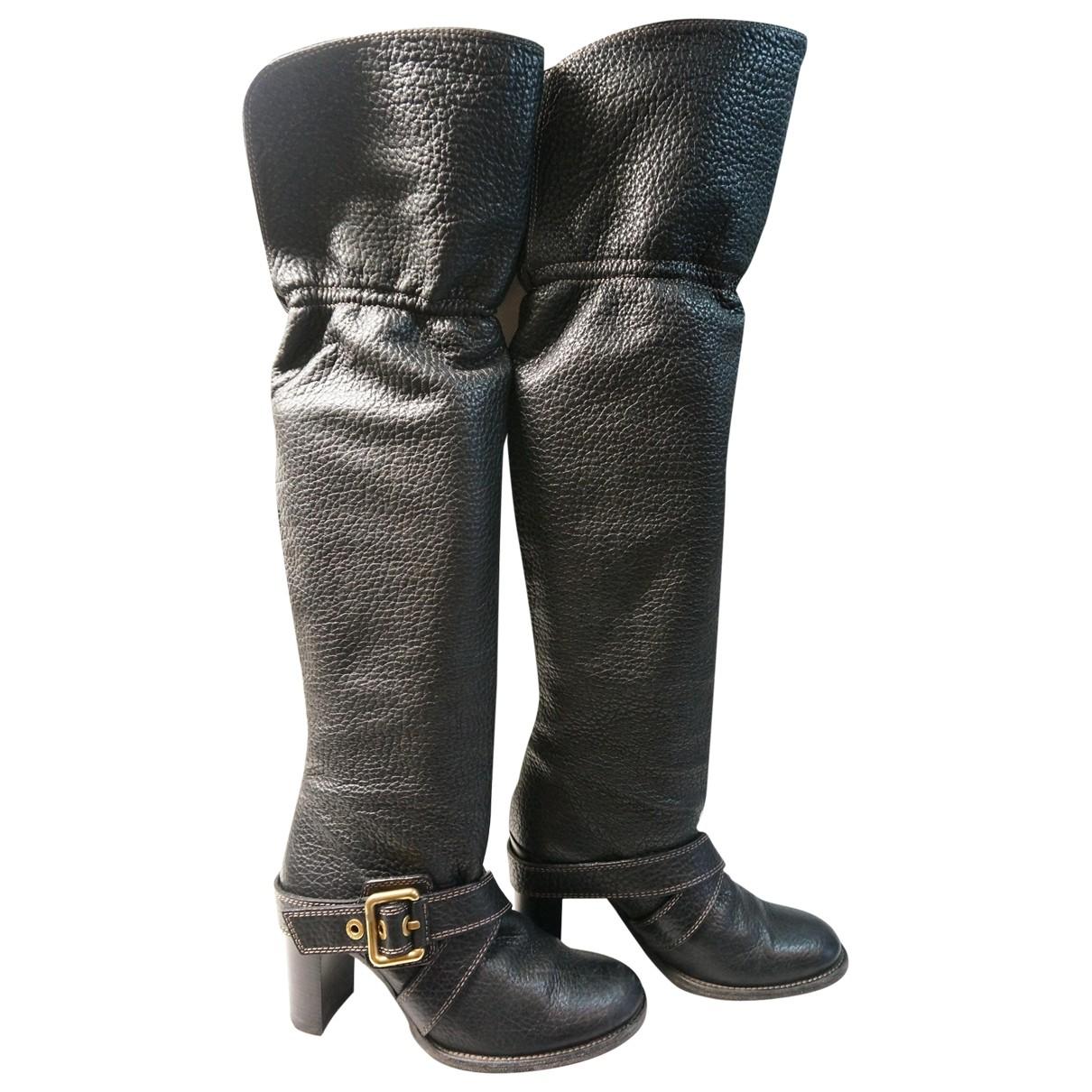 Botas de Cuero Dolce & Gabbana