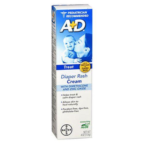 A+D Zinc Oxide Diaper Rash Cream 4 Oz by A+D