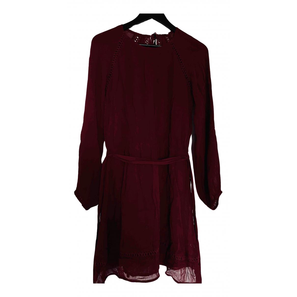 Sézane \N Burgundy dress for Women 38 FR