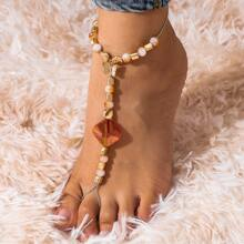 Stone Beaded Mittens Anklet