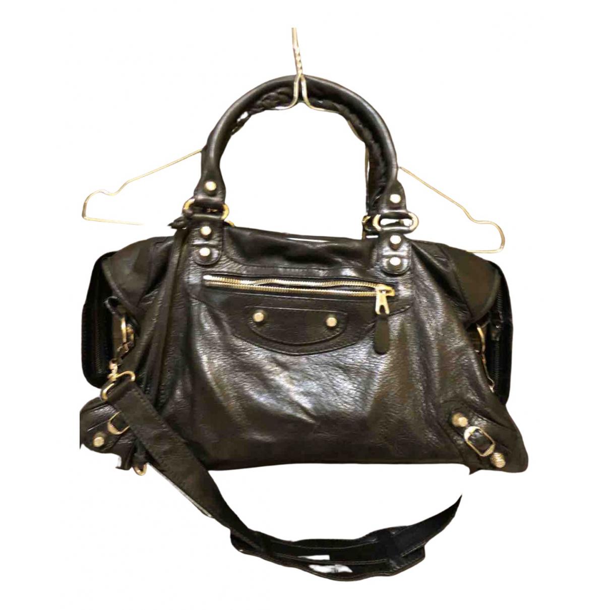 Balenciaga City Black Leather handbag for Women N